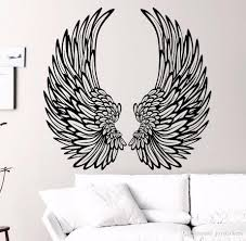 Angel Wings Wall Decal Wings Vinyl Sticker Home Decor Fashion Bedroom Decoration Diy Wallpaper Poster Shop Wall Decals Space Wall Decals From Joystickers 8 87 Dhgate Com