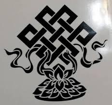 Endless Knot Eternal Tibet Buddhism Spirituality Die Cut Vinyl Stick Sticky Addiction
