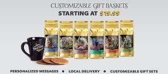 coffee gift basket 3 pack vegas