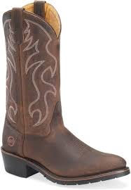 double h brown men s work western boots