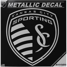 Sporting Kansas City 6 X 6 Metallic Decal