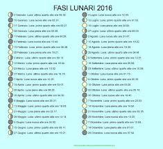 Calendario Lunare con fasi lunari | Fasi lunari, Calendario, Luna