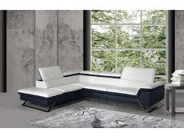 white blue leather sectional sofa