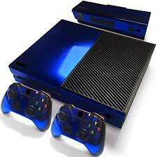 Amazon Com Gam3gear Decals Skin Vinyl Sticker For Original Xbox One Console Controller Not Xbox One X Xbox One Elite Xbox One S Blue Glossy Computers Accessories