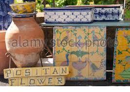 colourful ceramic garden troughs