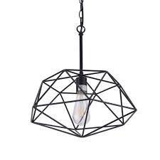 light black geometric pendant lamp
