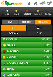 Sportcash Android et la version mobile