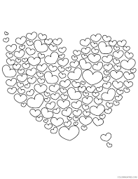 lots of love hearts coloring4free