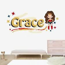 Wonder Woman Personalized Name Wall Decal Nursery Vinyl Sticker For Home Ebay