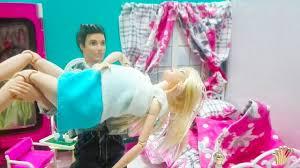 مساعده كين لباربي اثناء الحمل وتعب باربي وكسر الغرفه الجديد وتشائم