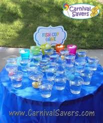 diy carnival game idea fish cup