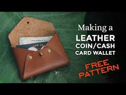 making a leather cash coin card wallet