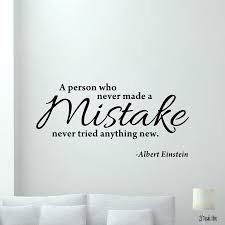 Einstein Quote Wall Decal Mistake Lettering Vinyl Sticker Art Decor Poster Inspiring Words Wall Sticker For Classroom Wall Clings Wall Clings For Kids From Joystickers 11 75 Dhgate Com