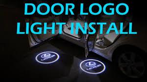 Door Welcome Logo Lights Installation Youtube