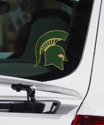 Michigan State University Pro Combat Green And Gold Spartan Helmet Decal Spartan Helmet Michigan Michigan State