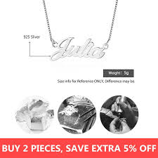 personalized nameplate letter necklace