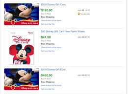 disney gift cards are