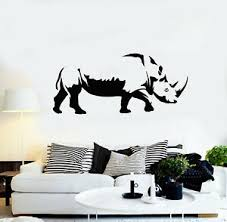 Vinyl Wall Decal Rhinoceros Zoo Tribal Rhino Wild Animals Stickers Mural G1212 Ebay