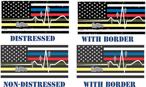 Back The Red Blue Stacked Decal Thin Blue Yellow Red Line Flag Thin Line Ems Skins Decals Laptop Netbook Accessories