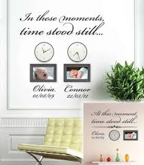 In These Moments Time Stood Still Wall Decal Wall Sticker