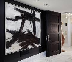 painting horizontal canvas black white