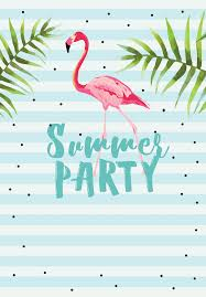 Chill With Flamingo Free Printable Summer Party Invitation