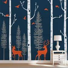 Birch Tree Wall Decals Birch Tree Wall Decor Sticker Birch Tree Decals For Nursery Birch Tree Vinyl Birch Tree Wall Decal Deer Wall Decal Tree Wall Decal