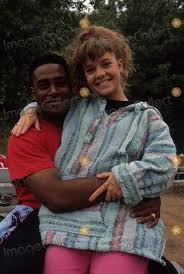 Photos and Pictures - Marlon Archey with Wendy Cox 1990 F9975 Photo by Bob  V. Noble-Globe Photos, Inc.