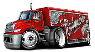 Amazon Com Bud Red Delivery Truck Wall Decal Budweiser Beer 3d Cartoon Car Movable Stickers Vinyl Wall Stickers For Kids Room Baby