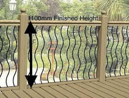 Wavy Or Straight Black Metal Decking Panels Steel Garden Fence Spindle Railings Ebay