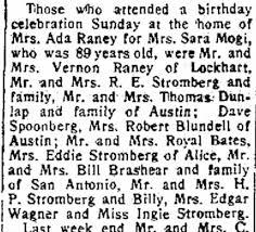 Louisa Stromberg Bates, Royal Read Bates, Addie Beck Stromberg: 31 May 1962  - Newspapers.com
