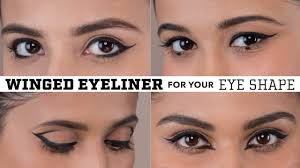 winged eyeliner for your eye shape