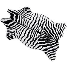 Amazon Com Ivalue Faux Zebra Print Rug Fur Zebra Hide Area Rug Soft Fluffy Throw Rug Sofa Chair Cover Cushion Small Floor Carpet For Living Room Kids Room 2 5ft X 3 6ft Black Kitchen