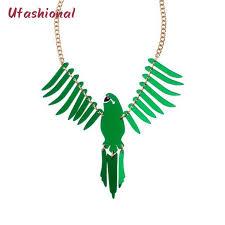 gold color zinc alloy acrylic big bird