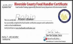 riverside county food handlers gallery