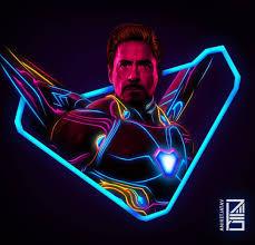 neon marvels artwork ironman markxlviii