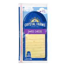 crystal farms swiss cheese slices 7 oz