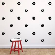paw print repeatable pattern vinyl wall