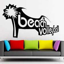 Beach Volleyball Vinyl Decal Sport Recreation Leisure Wall Stickers Decal Skin Sticker Decal Window Stickerssticker Shock Decals Aliexpress