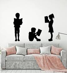 Vinyl Wall Decal Reading Children S Kids Library School Book Shop Stor Wallstickers4you