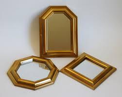 vintage mirror set small gold mirrors