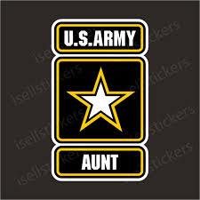 Army Aunt Military Bumper Sticker Car Vinyl Window Decal