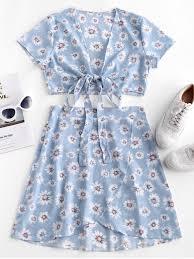 fl tie front two piece dress