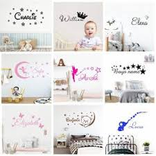Best Promo 198b Customized Personalized Name Children Home Decor Nursery Kids Room Vinyl Sticker Decal Removable Wall Art Sticker C08 Cicig Co