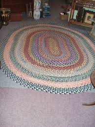 braided rag rug vine oval 115x92