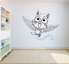 Fairy Tail Wall Vinyl Decal Happy Wall Stickers Anime Vinyl Poster Child Room Design Bedroom Art Ft5 27x22 Amazon Com