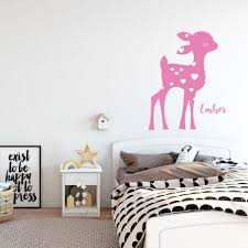 Removable Deer Wall Decals Forest Big For Nursery Design Flowers Girl Amazon John Deere Safari Vamosrayos