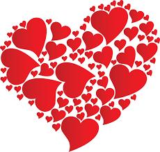heart made of hearts at hurley library