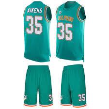 Men's Walt Aikens Limited Aqua Green Nike Jersey  small,medium,large,s,m,l,xl,2x,3x,4x,5x NFL Miami Dolphins #35 Tank Top Suit