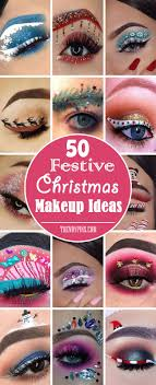 cute easy christmas makeup ideas